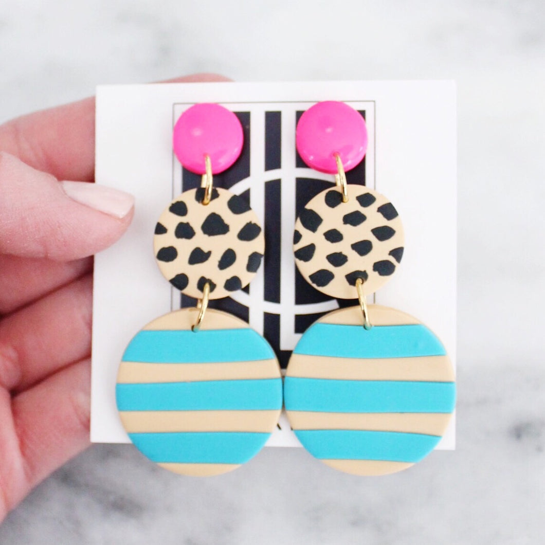 Spring Cheetah Earrings