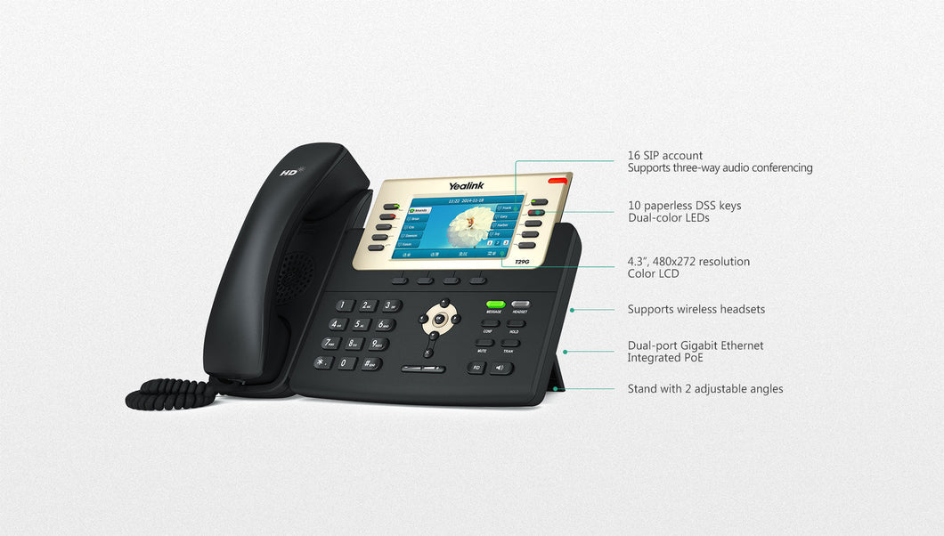 Yealink SIP-T29G IP Phone for (T2 Series)