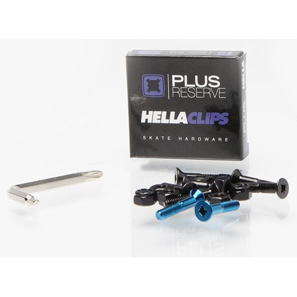 PLUS RESERVE/HELLA CLIPS 1 INCH BLUE BOLTS