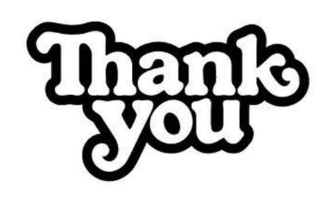 THANK YOU LOGO STICKER