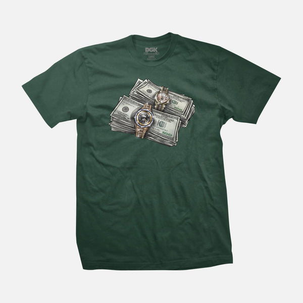 DGK ON TIME FOREST GREEN SHIRT