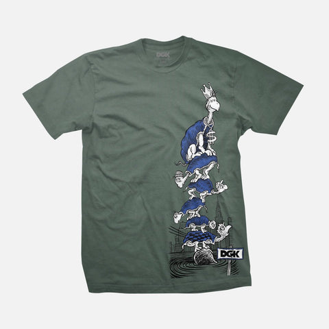 DGK TURTLE GREEN SHIRT
