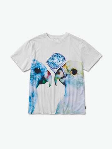 DIAMOND SUPPLY CO PERROQUET WHITE SHIRT