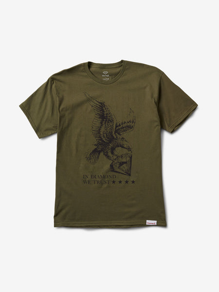 DIAMOND WE TRUST ARMY GREEN SHIRT