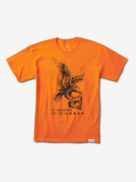 DIAMOND WE TRUST ORANGE SHIRT