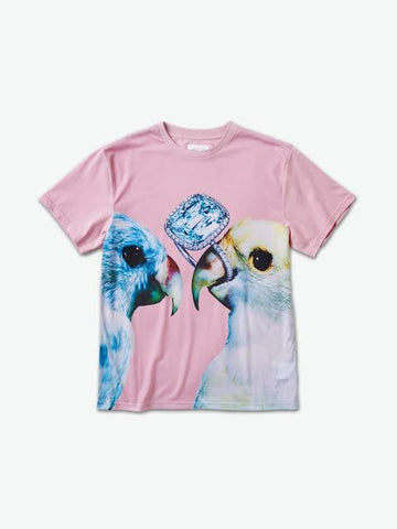 DIAMOND SUPPLY CO PERROQUET PINK SHIRT