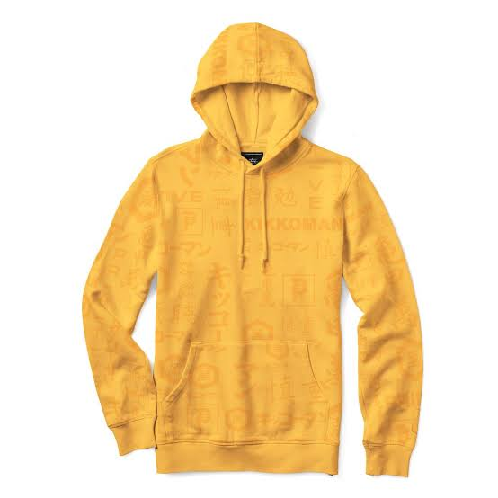 PRIMITIVE x KIKKOMAN GOLD HOODED JUMPER