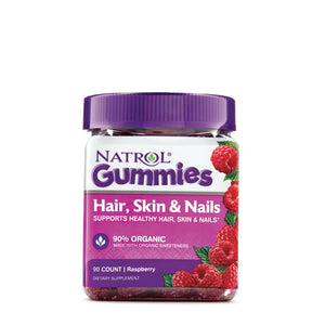 Natrol - Gummies Hair Skin & Nails Raspberry - 90 Gummies