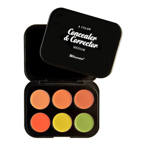 BH COSMETICS - 6 Color Concealer & Corrector Palette - Medium