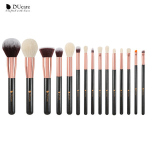 DUCARE - Set Makeup Brush golden Black (15 pièces)