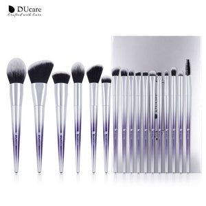 DUCARE - Set Makeup Brush Metal (17 pièces)