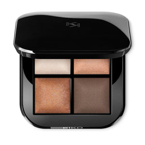 KIKO - Bright Quartet Baked Eyeshadow Palette - 01 Warm natural
