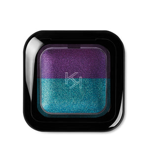 KIKO -  BRIGHT DUO BAKED EYESHADOW - Pearly Emerald/ Metalic violet - 2,5g