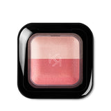 KIKO -  BRIGHT DUO BAKED EYESHADOW - Pearly pink / Satin Coral - 2,5g