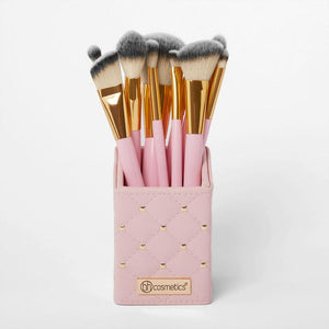 BH COSMETICS - Brushes set Pink studded Elegance (12 pcs)