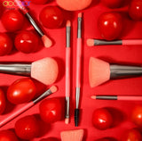 DOCOLOR - Set Pro Brush NEON RED (10 pièces)