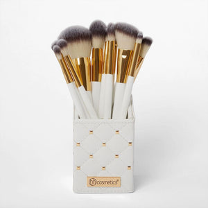 BH COSMETICS - Set brushes White Studded Elegance (12 pcs)