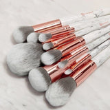 BH COSMETICS - Set brushes - Marble Luxe (10 pcs)