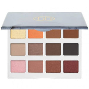 BH COSMETICS -  MARBLE COLLECTION WARM STONE - 12 COLOR EYESHADOW