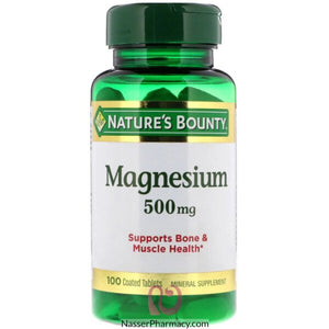 Nature's Bounty - Magnesium 500 Mg.100  Tablet