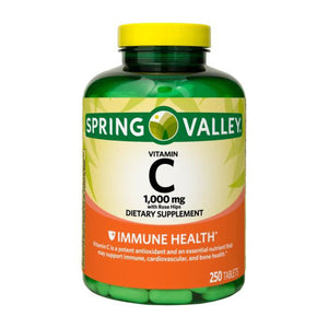 Spring Valley - Vitamin C with Rose Hips 1000 mg, 250 Tablets