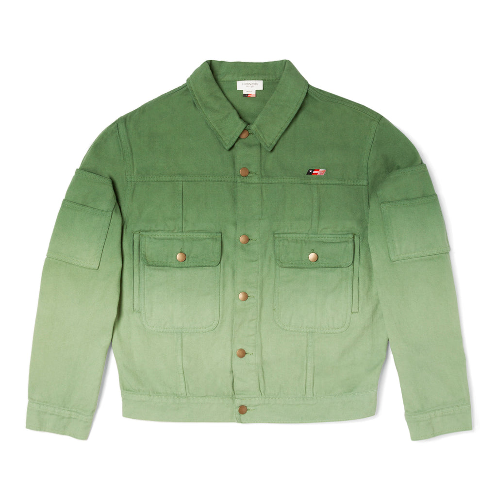Gridlock Denim Jack - Dip Dye Green