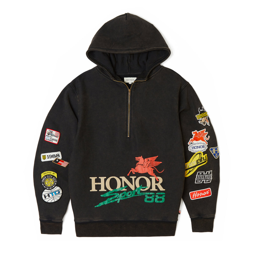 Honor Decal Hoodie - Black
