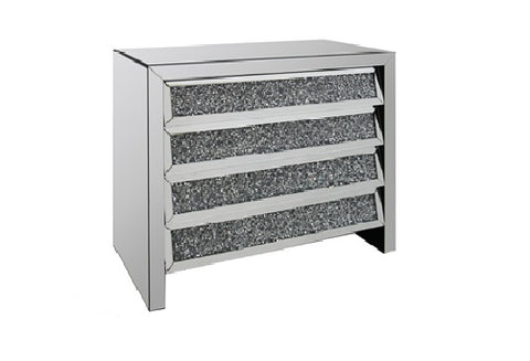 Crushed Glass 4 Drawer Chest