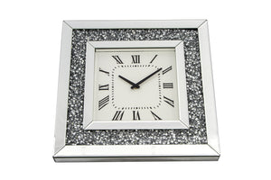Crushed Glass Wall Clock