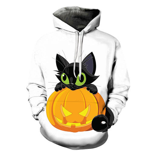 Black Cat On Pumpkin Halloween 3D Sweatshirt