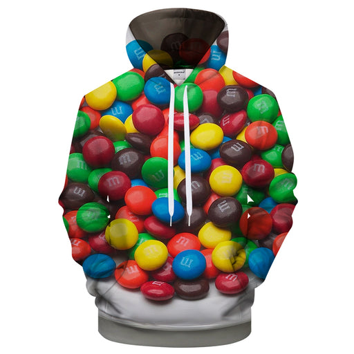 M&M Assorted 3D Sweatshirt Hoodie Pullover