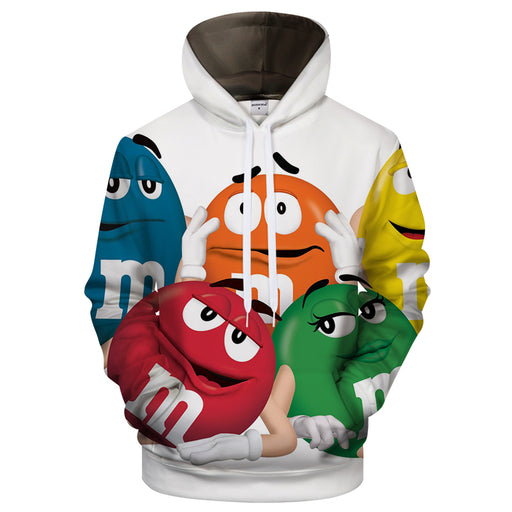 M&M Friends 3D Sweatshirt Hoodie Pullover