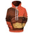 Orange Peanut Butter Cup 3D Sweatshirt Hoodie Pullover