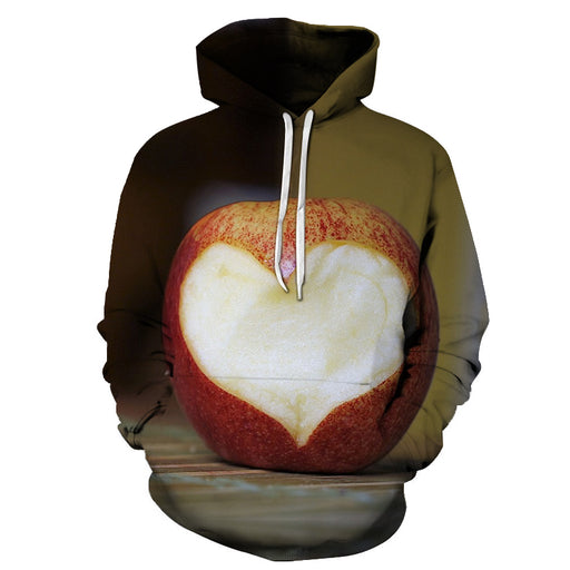 Apple Heart 3D - Sweatshirt, Hoodie, Pullover