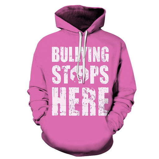 Bullying Stops Here 3D - Sweatshirt, Hoodie, Pullover
