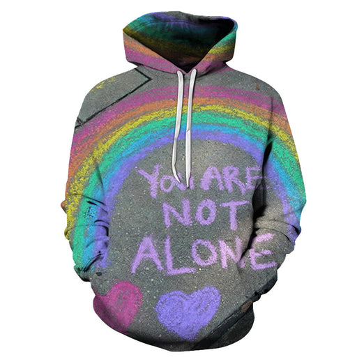 You Are Not Alone 3D - Sweatshirt, Hoodie, Pullover