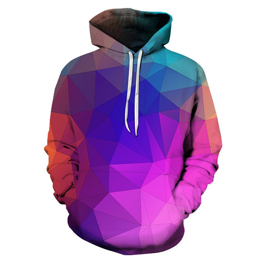 Multicolor Triangle 3D Hoodie