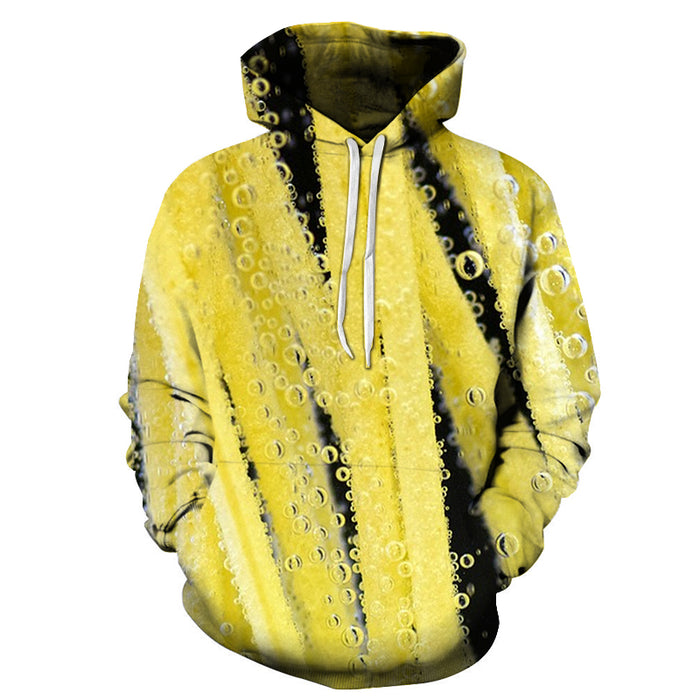 Yellow Soda Bubbles 3D Hoodie
