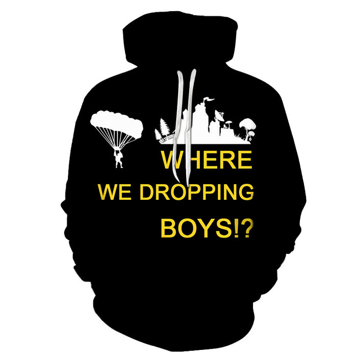 Where We Dropping Boys 3D - Sweatshirt, Hoodie, Pullover