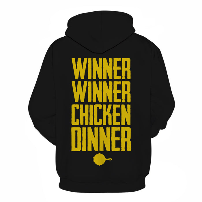 Winner Winner Chicken Dinner 3D - Sweatshirt, Hoodie, Pullover