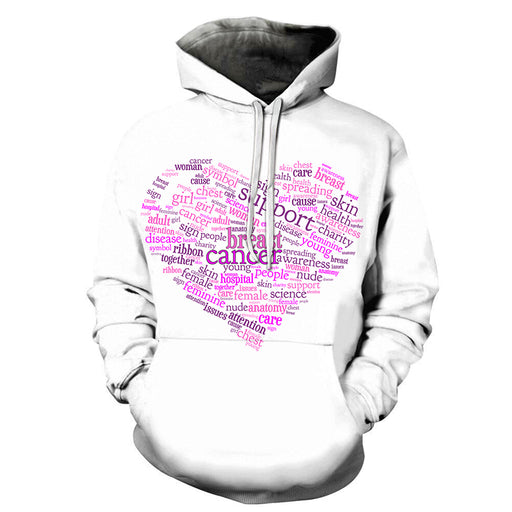 Breast Cancer Word Cloud 3D - Sweatshirt, Hoodie, Pullover