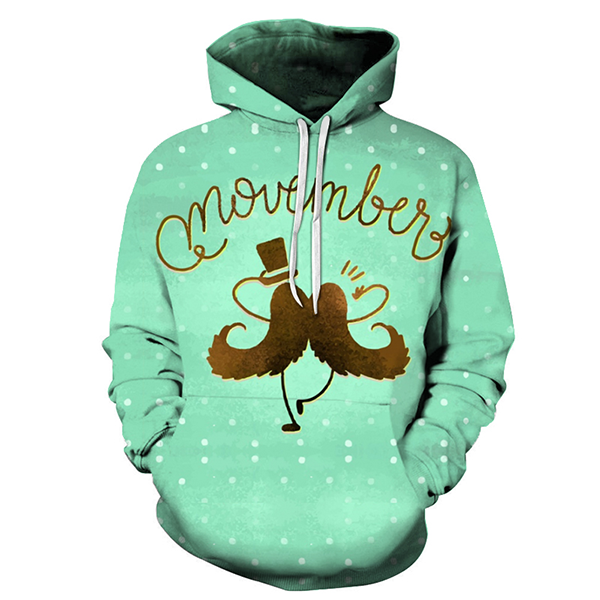 Movember Is Happy Hoodie- Sweatshirt, Hoodie, Pullover