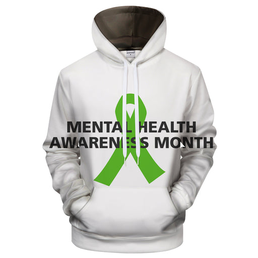 Mental Health Awareness 3D - Sweatshirt, Hoodie, Pullover