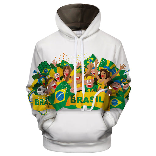 Brazil Cartoon 3D - Sweatshirt, Hoodie, Pullover