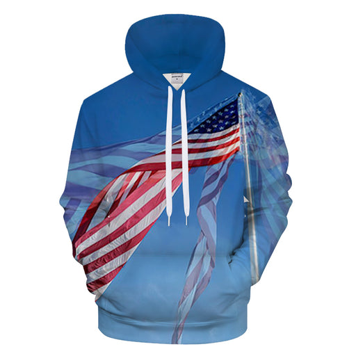 Flying American Flag - Sweatshirt, Hoodie, Pullover