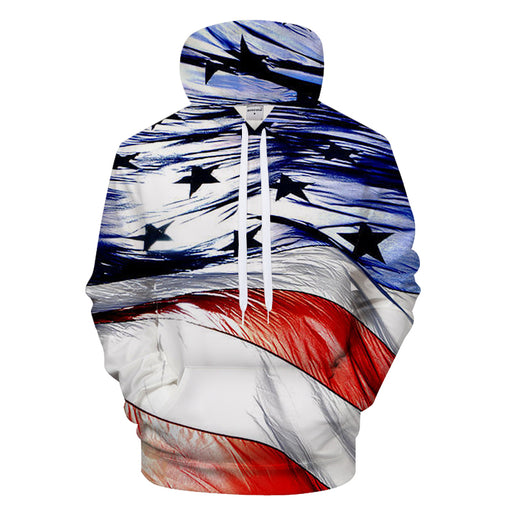 4th of July 3D - Sweatshirt, Hoodie, Pullover