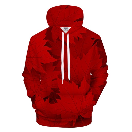 Red Maple Leafs 3D - Sweatshirt, Hoodie, Pullover