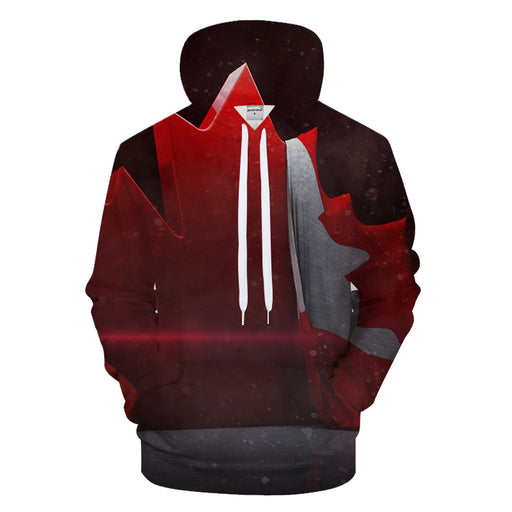 Red Canadian Flag 3D - Sweatshirt, Hoodie, Pullover