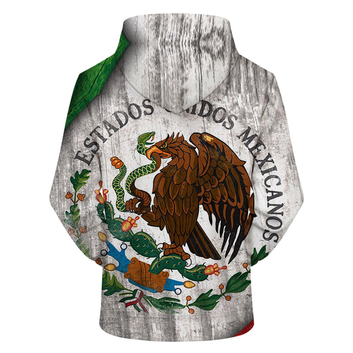 Mexico World Cup 3D - Sweatshirt, Hoodie, Pullover