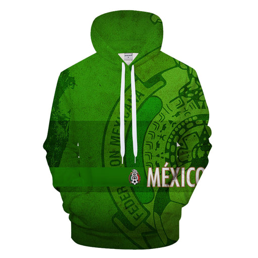 Bright Green Mexico World Cup 3D - Sweatshirt, Hoodie, Pullover